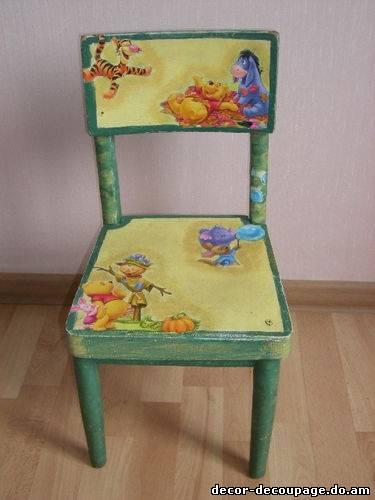 Декупаж мебели детская