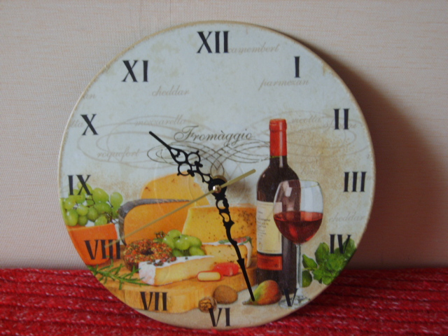 Как сделать часы настенные на кухню